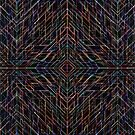 Triangles colorful abstract tribal pattern by mikath