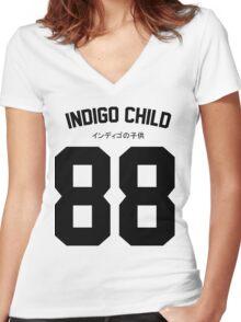 Indigo 88 Women's Fitted V-Neck T-Shirt