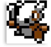 Pokemon 8-Bit Pixel Cubone 104 Canvas Print
