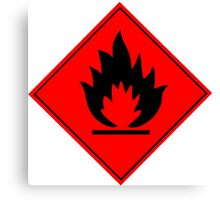 Flammable Warning Sign Canvas Print