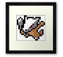 Pokemon 8-Bit Pixel Marowak 105 Framed Print