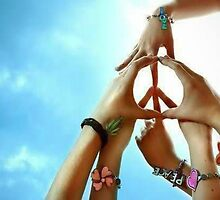 Peace Is Created Through Various Hands Joining Together by ElisaAngelOk