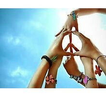Peace Is Created Through Various Hands Joining Together Photographic Print