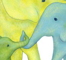 Elephant Family of Three Sticker