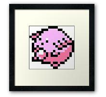 Pokemon 8-Bit Pixel Chansey 113 Framed Print