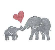 Elephant Hugs Photographic Print