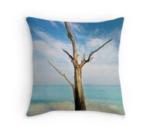 Cinnamon Bay Tree Throw Pillow