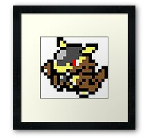 Pokemon 8-Bit Pixel Kangaskhan 115 Framed Print