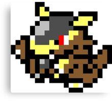 Pokemon 8-Bit Pixel Kangaskhan 115 Canvas Print