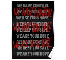 WE ARE IN CONTROL! Poster