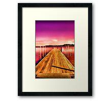 Pier V Framed Print