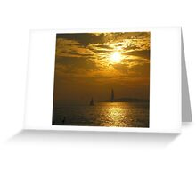 Liberty at Sunset Greeting Card