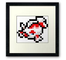 Pokemon 8-Bit Pixel Goldeen 118 Framed Print