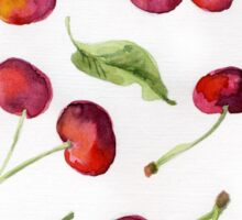 Watercolor  cherry. Raster illustration. Sticker