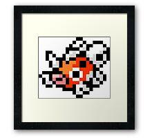 Pokemon 8-Bit Pixel Seaking 119 Framed Print