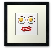 What's up, Egg Face! Framed Print