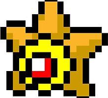 Pokemon 8-Bit Pixel Staryu 120 by slr06002