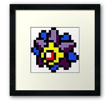 Pokemon 8-Bit Pixel Starmie 121 Framed Print