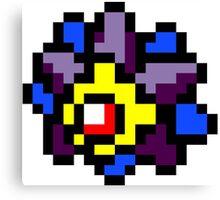 Pokemon 8-Bit Pixel Starmie 121 Canvas Print