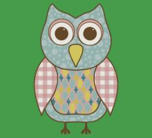Patterned Owl Kids Clothes