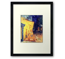 "My Version /  Homage  to Vincent   ""  The Cafe' Terrace  at Night  ""     My Paintings                        Framed Print"