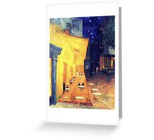 "My Version /  Homage  to Vincent   ""  The Cafe' Terrace  at Night  ""     My Paintings                        Greeting Card"