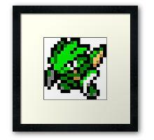 Pokemon 8-Bit Pixel Scyther 123 Framed Print