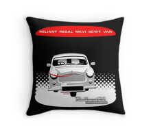 Reliant Regal Mk VI van anniversary Throw Pillow