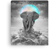 Strength & Courage (Stand Alone Elephant) Canvas Print