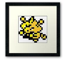 Pokemon 8-Bit Pixel Electabuzz 125 Framed Print