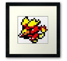 Pokemon 8-Bit Pixel Magmar 126 Framed Print
