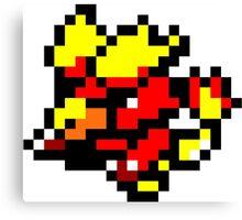 Pokemon 8-Bit Pixel Magmar 126 Canvas Print