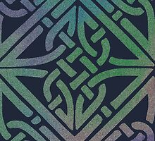 Midnight Celtic Knot Square by ElephantTrunk