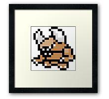 Pokemon 8-Bit Pixel Pinsir 127 Framed Print