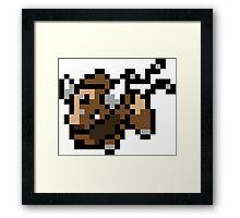 Pokemon 8-Bit Pixel Taurus 128 Framed Print