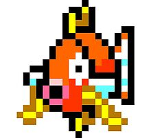 Pokemon 8-Bit Pixel Magikarp 129 Photographic Print