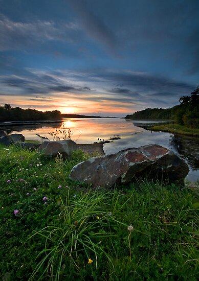 Mabou River Sunset Nova Scotia by EvaMcDermott