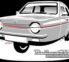 Reliant Robin saloon anniversary by car2oonz