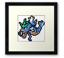 Pokemon 8-Bit Pixel Gyarados 130 Framed Print