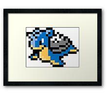 Pokemon 8-Bit Pixel Lapras 131 Framed Print
