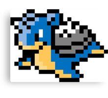 Pokemon 8-Bit Pixel Lapras 131 Canvas Print