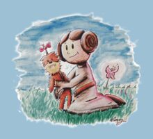 Princess Leia and Wookiee Doll Chewbacca STAR WARS fan art Kids Clothes