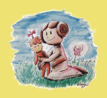 Princess Leia and Wookiee Doll Chewbacca STAR WARS fan art Kids Tee