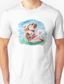 Princess Leia and Wookiee Doll Chewbacca STAR WARS fan art T-Shirt