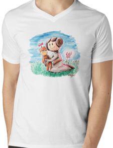 Princess Leia and Wookiee Doll Chewbacca STAR WARS fan art Mens V-Neck T-Shirt