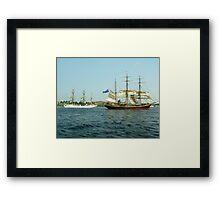 Ships That Pass... Framed Print