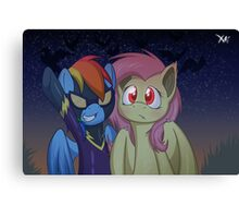 Girls ready for nightmare night Canvas Print