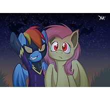 Girls ready for nightmare night Photographic Print