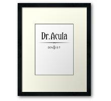 Dr. Acula Framed Print
