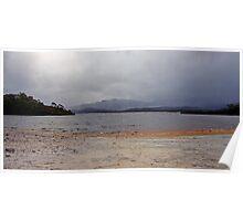 Rain Clouds Over Lake Pedder - South West Tasmania Poster